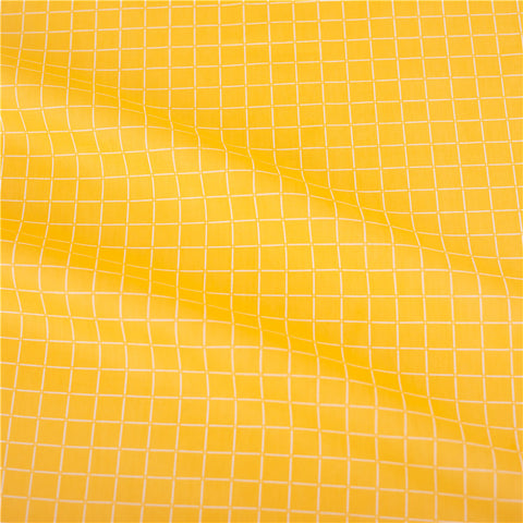 Checks - yellow & white 17mm check cotton fabric W:160cm FQ2102-02