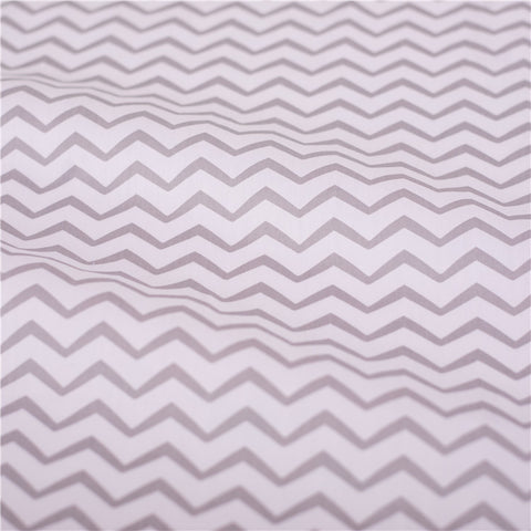 Chevron - grey monochrome mm stripes cotton fabric W:160cm FQ2102-08