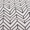 Geometric - white & black monochrome arrows & chevron cotton fabric W:160cm FQ2102-21