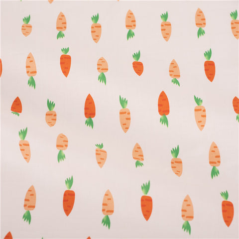 Easter - orange carrots cotton fabric W:160cm FQ2101-36