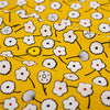 Flowers - yellow & white cute flowers cotton fabric W145cm FQ2103-36