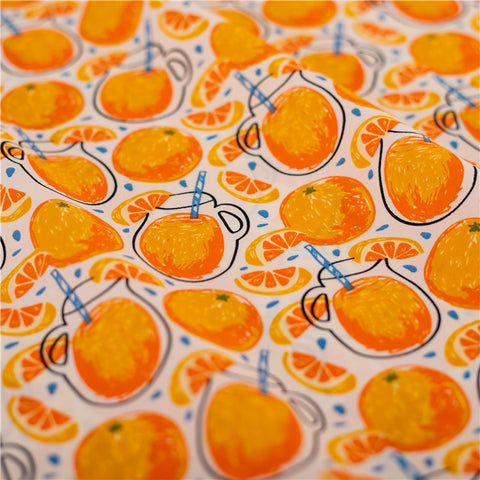 Fruit - orange juice cotton fabric W145cm FQ2103-39