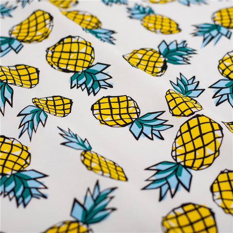 Fruit - yellow pineapple cotton fabric W145cm FQ2103-42