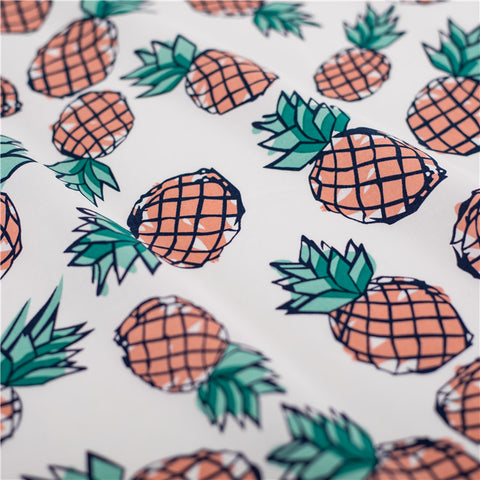 Fruit - pink pineapple cotton fabric W145cm FQ2103-43