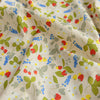 Woodland - cream & green strawberry & leaves cotton fabric W145cm FQ2104-04