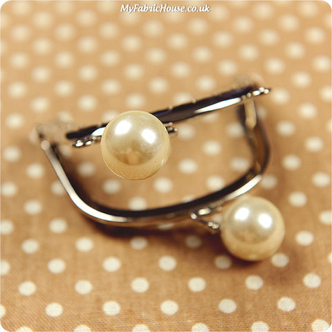Coin purse - 7.5cm pearl head frame