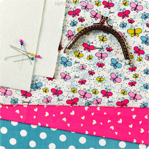 Coin purse - sewing kit - butterfly KT1303-04