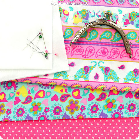 Simple Coin Purse Making Kit - Tutorial Pattern £9.99 | My Fabric House