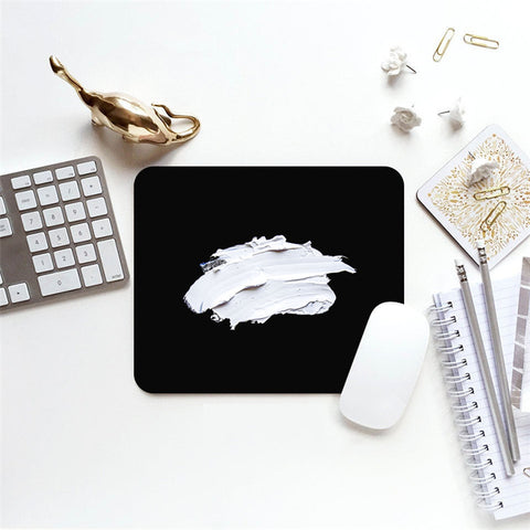 MFH LAB - black & white monochrome oil paint 23x20cm mouse pad MP2101-02