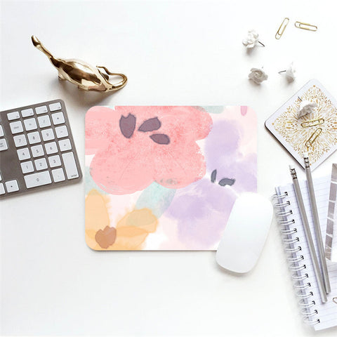 MFH LAB - pink & purple pastel floral 23x20cm mouse pad MP2101-09