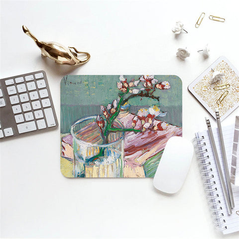 MFH LAB - multicolour muted oil painting 23x20cm mouse pad MP2101-12