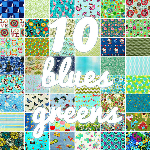 Lucky dip - 25x25cm - random fabric bundle - ocean