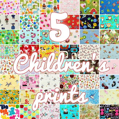 Lucky dip - 25x25cm - random fabric bundle - kids' favourites