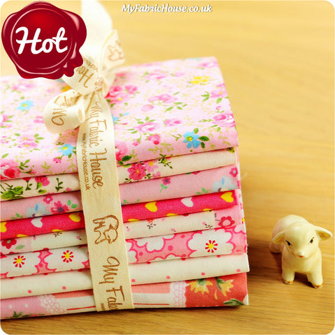 Buy cotton fabric - pink Ditsy Fabric Bundle £7.99 | My Fabric House