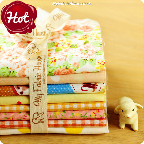 Buy cotton fabric - yellow Ditsy Fabric Bundle £7.99 | My Fabric House
