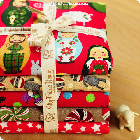 Fat Quarter Fabric Bundle - Red Christmas £15.59 | My Fabric House