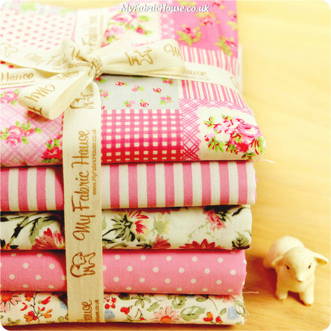 Fat Quarter Fabric Bundle - Pink Floral £13.99 | My Fabric House