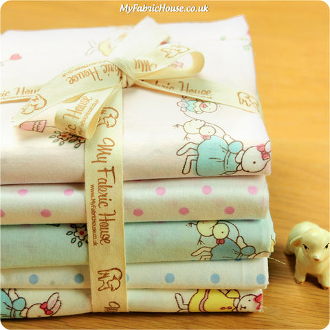 Fat Quarter Fabric Bundle - Pastel Easter Bunny £12.99 | My Fabric House