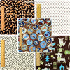 Pets - brown dogs & bones cotton fabric bundle 5FQs PK1408-08