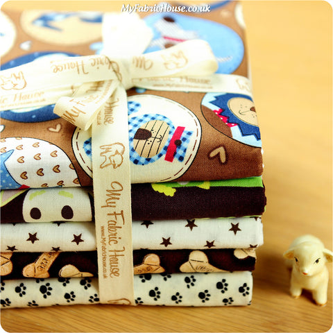 Fat Quarter Fabric Bundle - Bwon Pet Dogs £15.49 | My Fabric House
