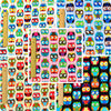 Owls - multicoloured owl motif brushed cotton fabric bundle 5FQs PK1408-10