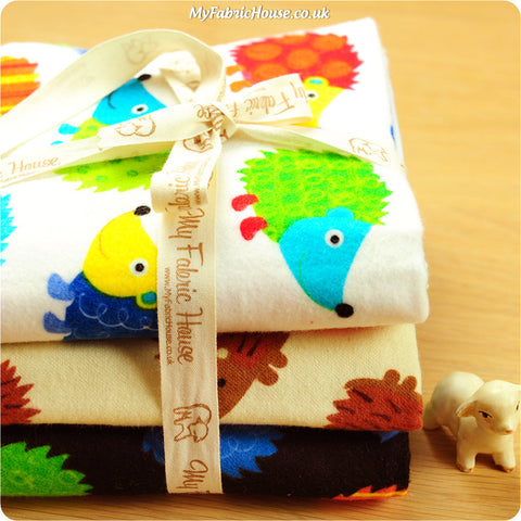 Fat Quarter Fabric Bundle - Multicolour Flannel Animal £10.49 | My Fabric House