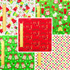 Christmas - green & red cotton fabric bundle 5FQs