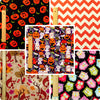 Halloween - orange & black pumpkin & witch cotton fabric bundle