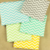 Chevron - fresh scheme 5mm stripe 80x50cm cotton fabric bundle 5FQs PK1810-03