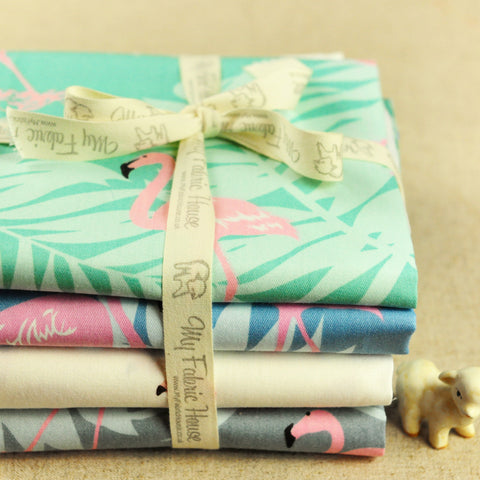 Zoo - flamingo cotton fabric bundle 4FQs PK1810-04