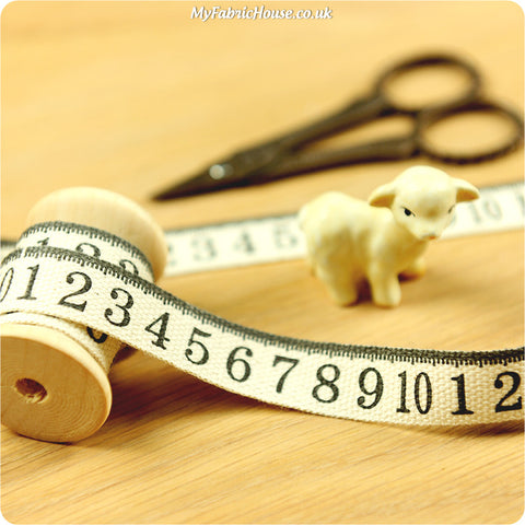 3m Cotton Ribbon - Measuring Tape | My Fabric House