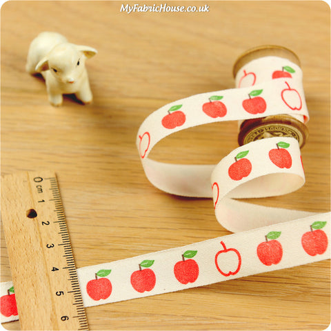 3m Cotton Ribbon - Apple | My Fabric House