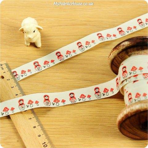 3m Cotton Ribbon - Russian Dolls | My Fabric House