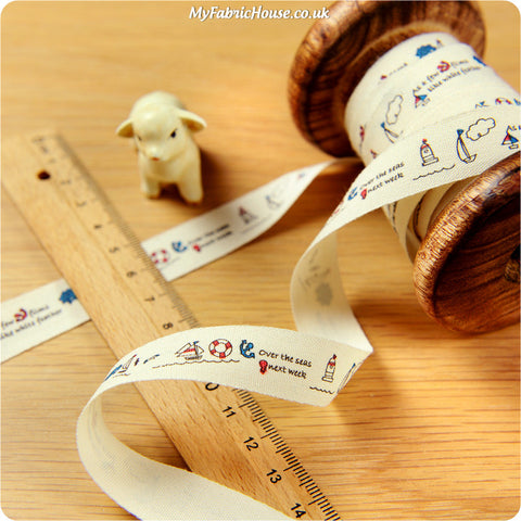3m Cotton Ribbon - Nautical | My Fabric House