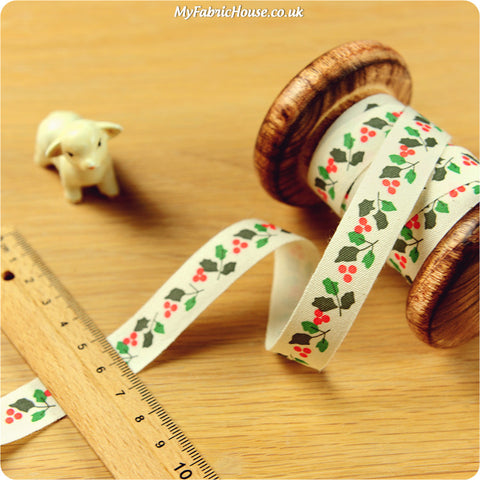 3m Cotton Ribbon - Christmas | My Fabric House