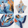 MFH LAB - blue & orange hair scarf 55x55cm SC2101-01
