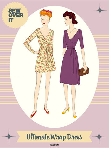 Sew over it - (intermediate level) ultimate wrap dress sewing pattern KT1509-11