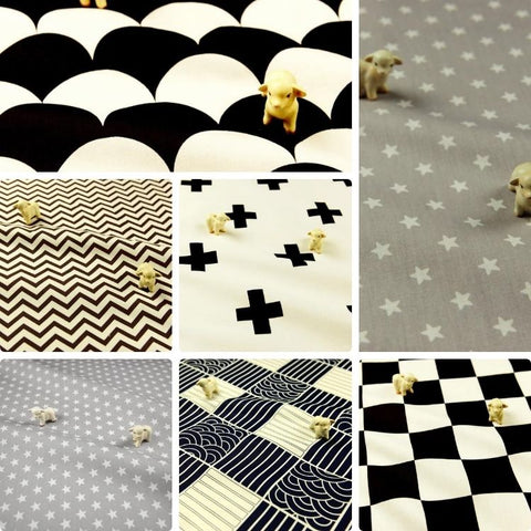 ❤ BACK IN STOCK ❤ August ❤ Unisex Monochrome Cotton Fabrics