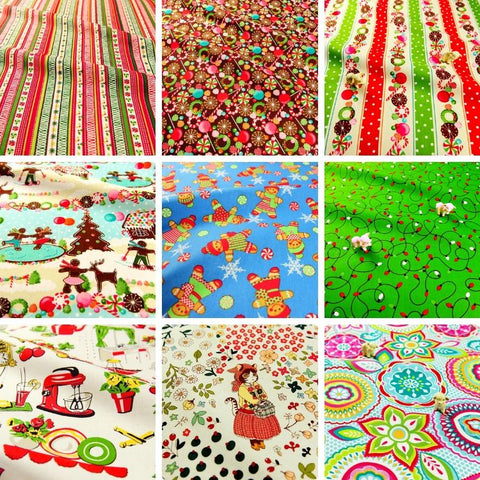 ❤ BACK IN STOCK ❤ 9 Gorgeous Floral & Christmas Fabrics