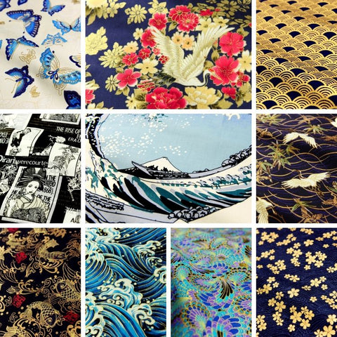 ❤ BACK IN STOCK ❤ 12 Japanese Traditional Kimono Fabrics