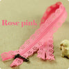 30cm - Scalloped lace edged zippers - 24 colours