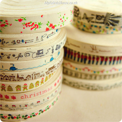 ❤ BACK IN STOCK ❤ 12 Rustic Cotton Ribbons