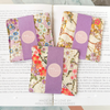 Japanese - purple & beige floral cotton fabric bundle 5FQs PK2009-03