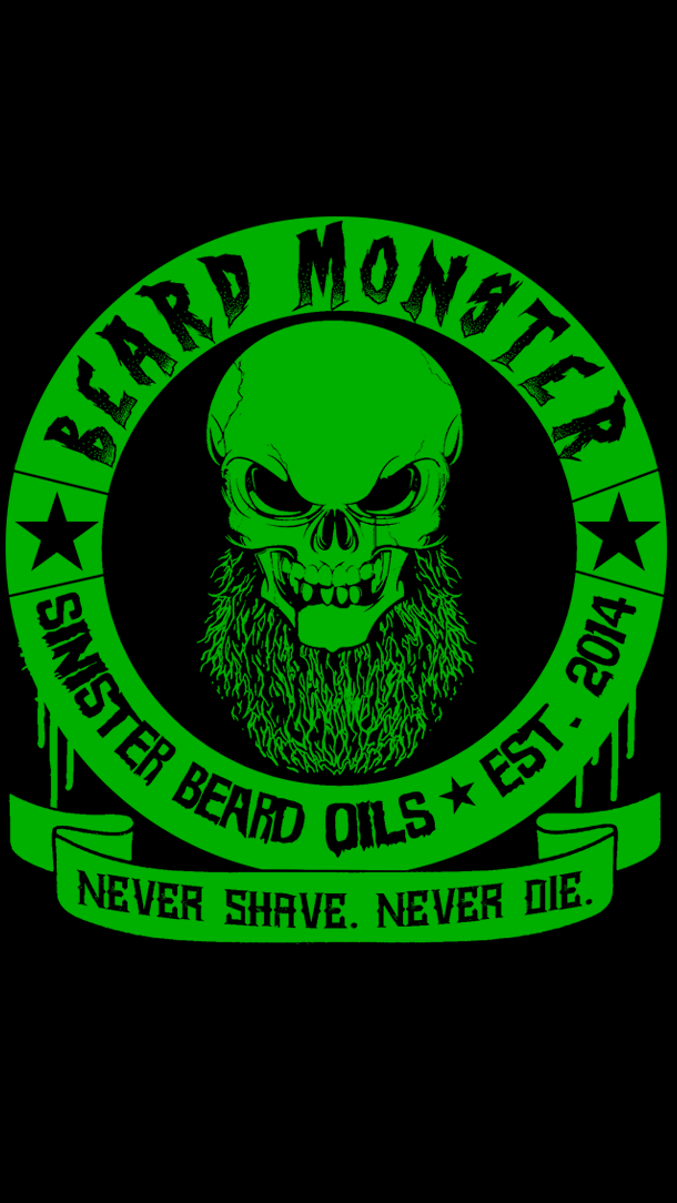 Beard Monster Never Shave Never Die Mobile Wallpaper