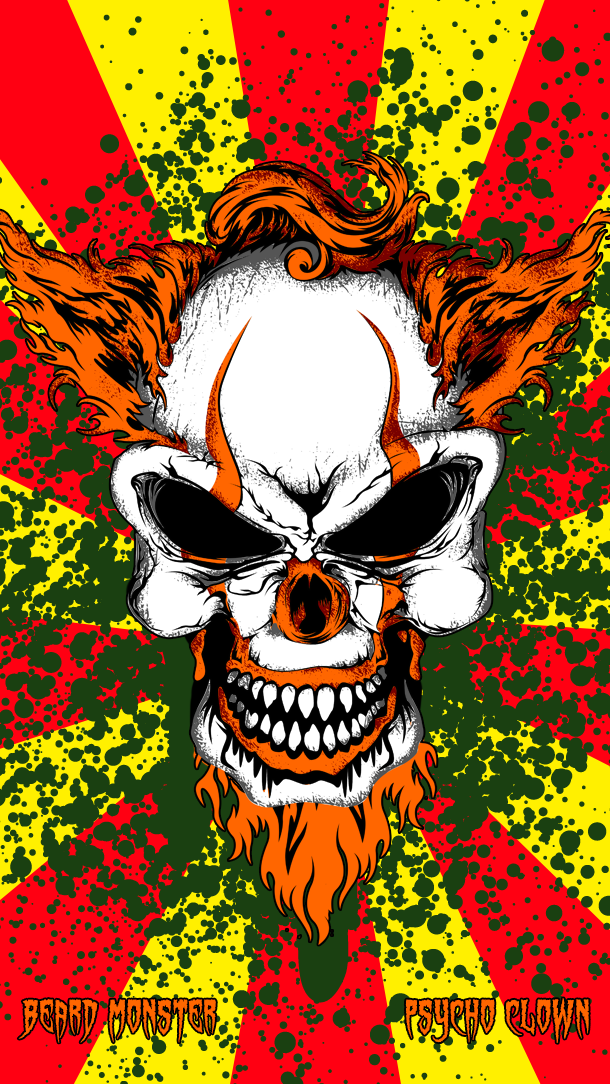 Beard Monster Psycho Clown Mobile Wallpaper