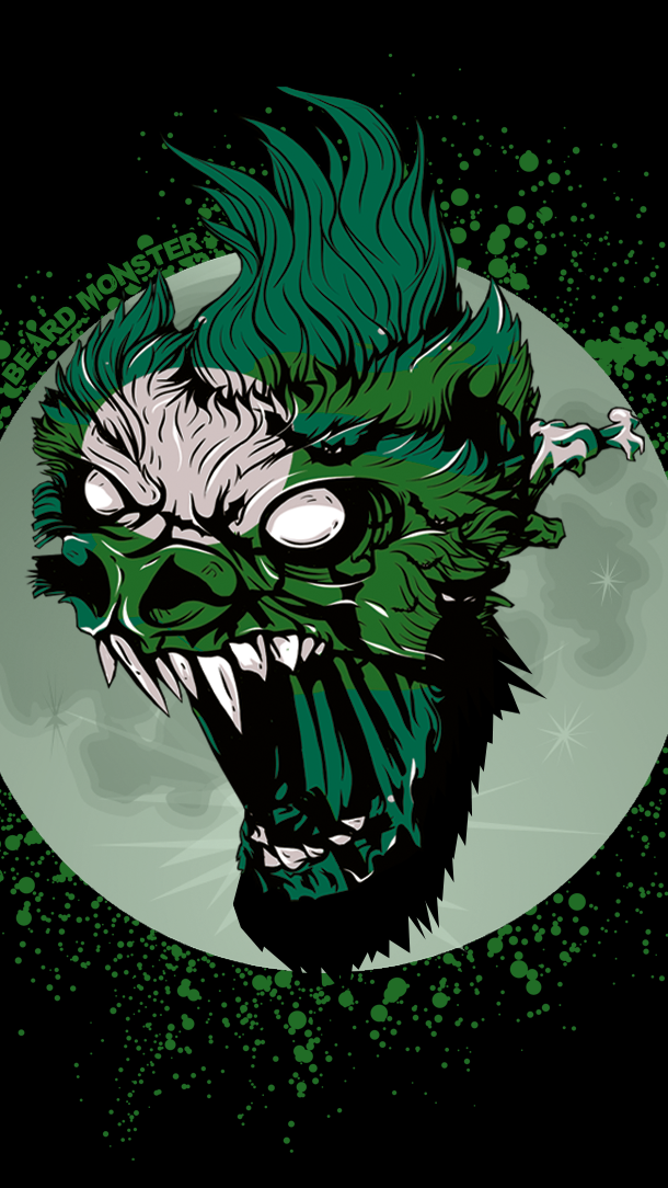 Beard Monster Wolfman mobile wallpaper