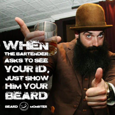 bearded man hat funny ID