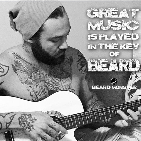 great music made key beard guitar