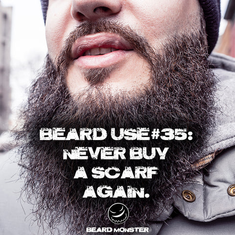 big beard man scarf