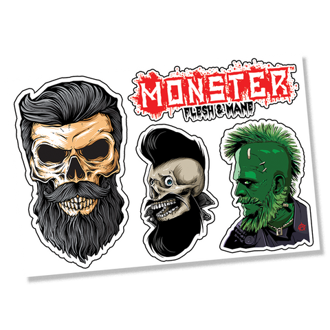 MONSTER 4 Sticker Sheet